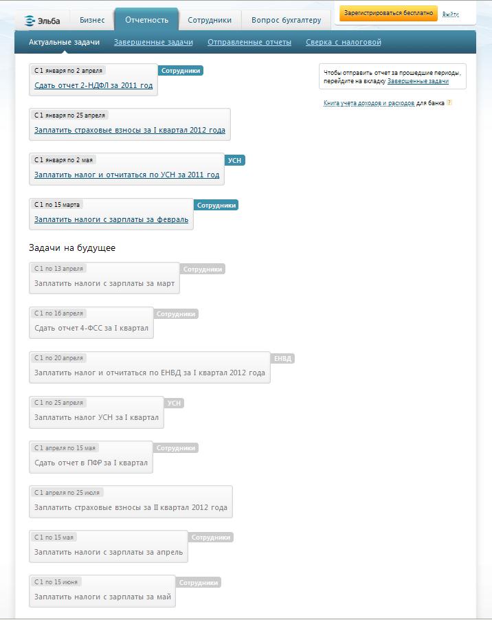календарь налогов ип онлайн