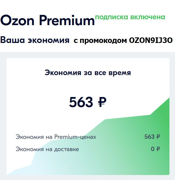 промокод озон премиум OZON9IJ3O
